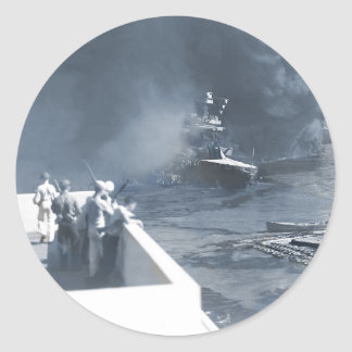 The California Ship in the Mud Classic Round Sticker