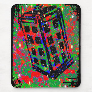 The Call Box Phone Booth by Kara Willis Mouse Pad
