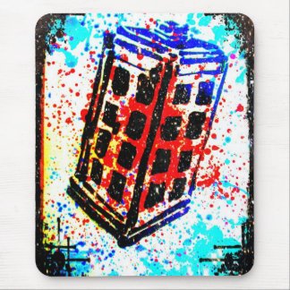 The Call Box Phone Booth I by Kara Willis Mouse Pad