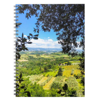 The Calm in Tuscany Photo Print Notebook