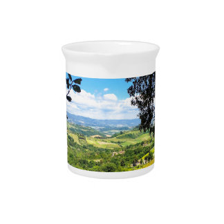 The Calm in Tuscany Photo Print Pitcher