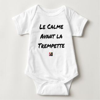 The CALM one BEFORE the QUICK DIP - Word games Baby Bodysuit