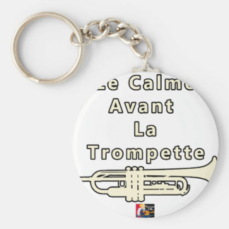The Calm one before the Trumpet - Word games Key Ring