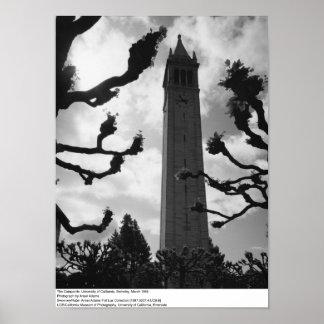 The Campanile, UC Berkeley, 1965 Poster