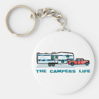 The Campers Life Basic Round Button Key Ring