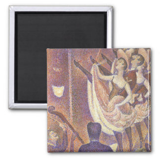 The Can Can Dance, Le Chahut by Georges Seurat Square Magnet