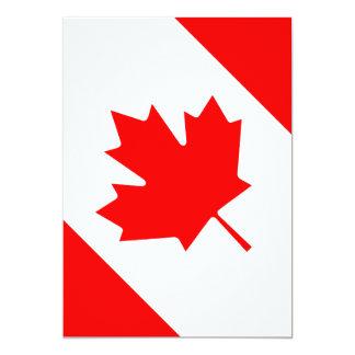 The Canadian Flag - Canada Souvenir 13 Cm X 18 Cm Invitation Card