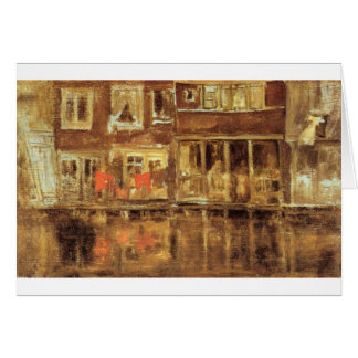 The Canal by James McNeill Whistler Card
