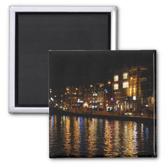 The Canals of Amsterdam at Night Fridge Magnets