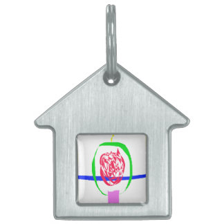 The Candle and Lightning Pet ID Tag