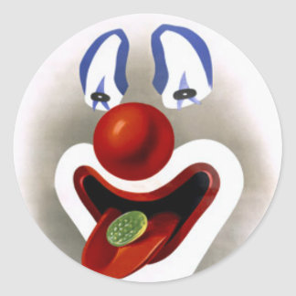 The Candy Clown Classic Round Sticker