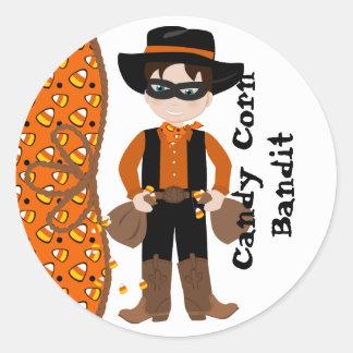 The Candy Corn Bandit Classic Round Sticker