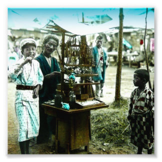 The Candy Man of Old Japan Vintage Japanese Photographic Print