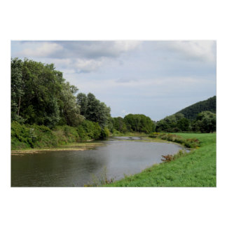The Canisteo River in Addison, New York Poster