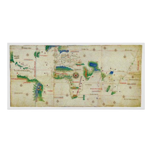 The Cantino Planisphere World Map (1502) Poster