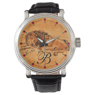 THE CAPE LION LYING DOWN, Orange Yellow Monogram Watch