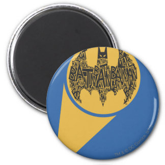 The Caped Crusader 6 Cm Round Magnet