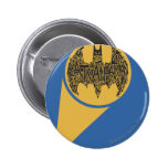 The Caped Crusader Pinback Button