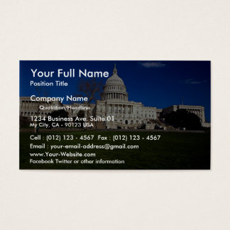 The Capitol building, Washington, D.C., USA Business Card