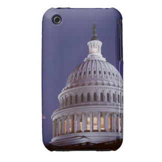 the capitol dome at dusk with the light on iPhone 3 Case-Mate case