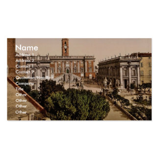 The Capitoline, Rome, Italy vintage Photochrom Business Card