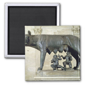The Capitoline She-Wolf Square Magnet
