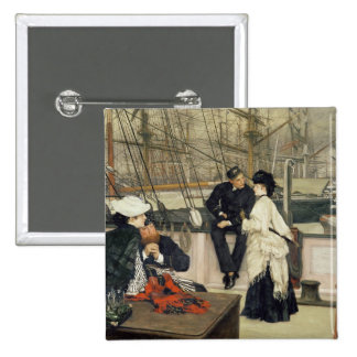 The Captain and the Mate, 1873 15 Cm Square Badge