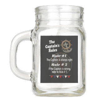 The Captain's Rules -- Collectible Mason Jar