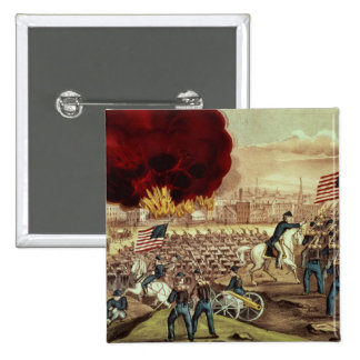 The Capture of Atlanta by the Union Army 15 Cm Square Badge