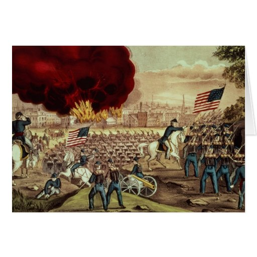 The Capture of Atlanta by the Union Army Card