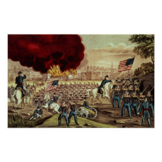 The Capture of Atlanta by the Union Army Poster