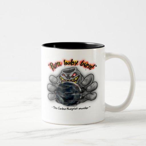 The Carbon Footprint Monster - Burn Baby Burn Coffee Mug