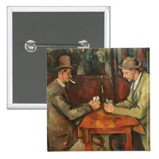 The Card Players, 1893-96 15 Cm Square Badge