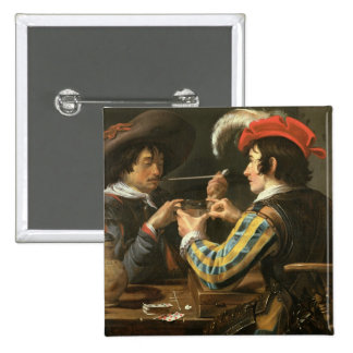 The Card Players 15 Cm Square Badge