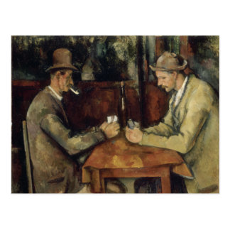 The Card Players by Paul Cézanne 1895 Postcard