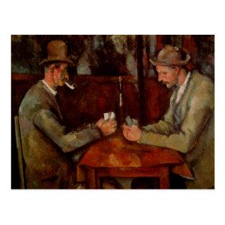 The Card Players, Claude Cezanne Postcard