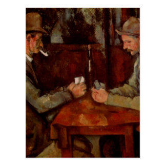 The Card Players, Claude Cezanne Postcard
