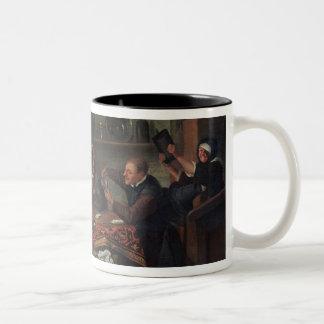 The Card Players Two-Tone Coffee Mug