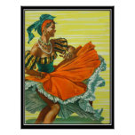 The Caribean vintage poster print Poster