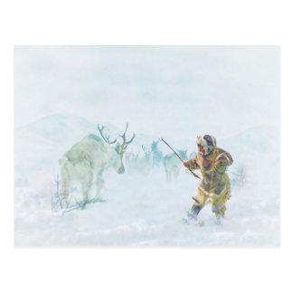 The Caribou Hunt by Shawna Mac Postcard