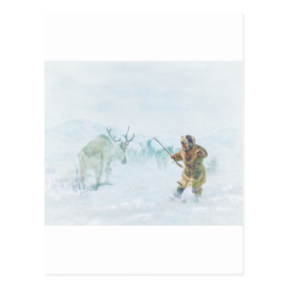The Caribou Hunt by Shawna Mac Postcard