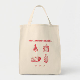 The Carnivore s Dilemma Tote Canvas Bags