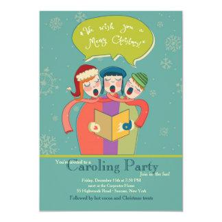 The Carolers Holiday Card 13 Cm X 18 Cm Invitation Card