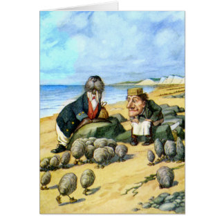 The Carpenter and the Walrus in Wonderland Card