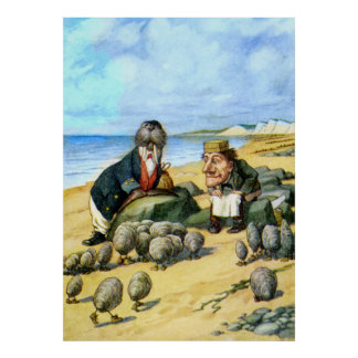 The Carpenter and the Walrus in Wonderland Poster