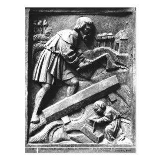 The Carpenter, detail from an altarpiece Postcard