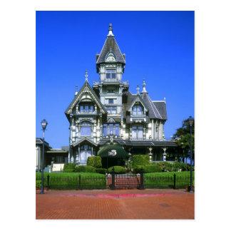 The Carson Mansion in Eureka, California Postcard