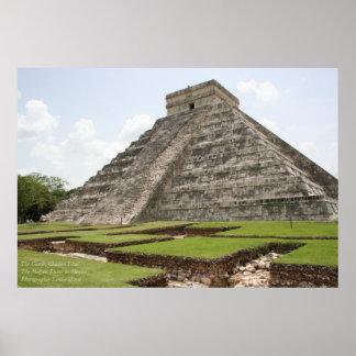 The Castle, Chichen Ixta, Mayan Ruins, Mexico Poster