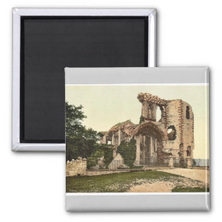 The castle, Denbigh, Wales rare Photochrom Square Magnet