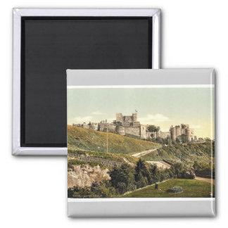 The castle, Dover, England rare Photochrom Square Magnet